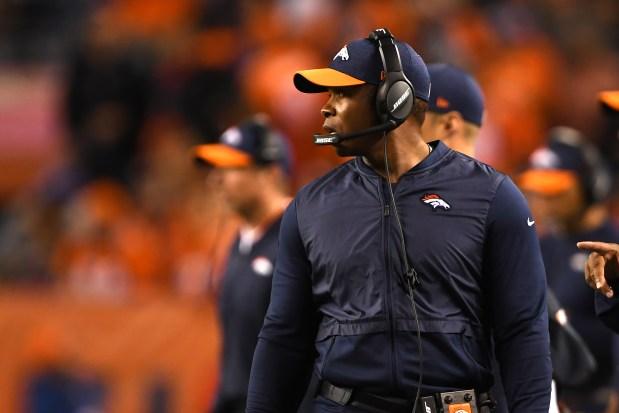 Denver Broncos head coach Vance Joseph ...