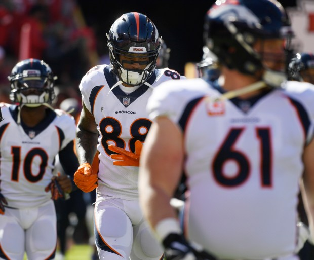 Denver Broncos wide receiver Demaryius Thomas ...