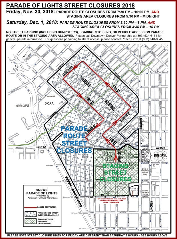Road Closures Rtd Routes During Denver S Parade Of Lights