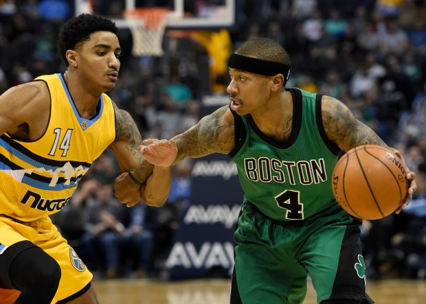 Boston Celtics guard Isaiah Thomas (4) ...