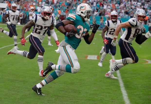 Miami Dolphins running back Kenyan Drake ...