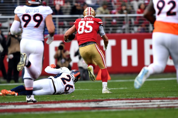 George Kittle #85 of the San ...