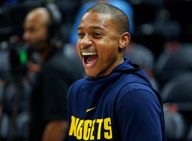 Denver Nuggets guard Isaiah Thomas (0) ...