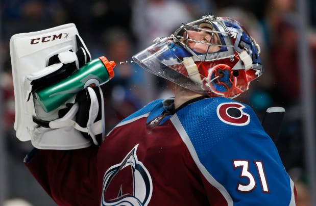 Colorado Avalanche goaltender Philipp Grubauer cools ...