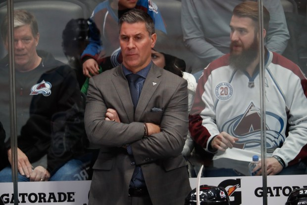 Colorado Avalanche head coach Jared Bednar ...