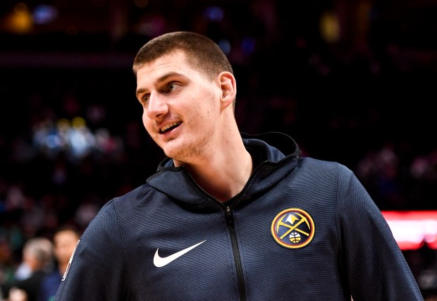Nikola Jokic (15) of the Denver ...