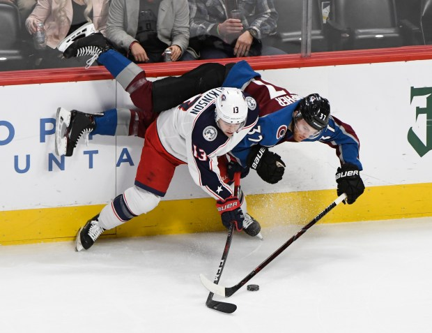 Colorado Avalanche left wing J.T. Compher ...