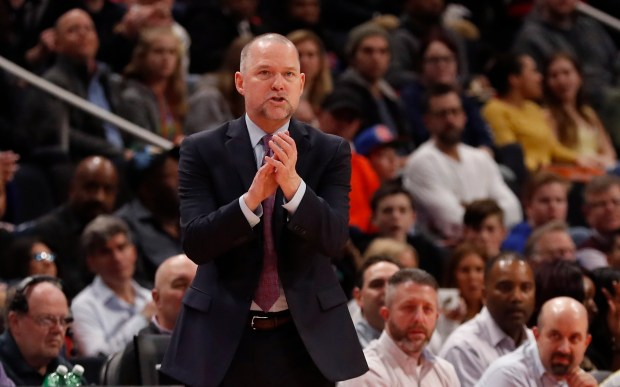 Denver Nuggets head coach Michael Malone ...