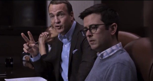 Peyton Manning in a pre-Super Bowl skit on CBS.