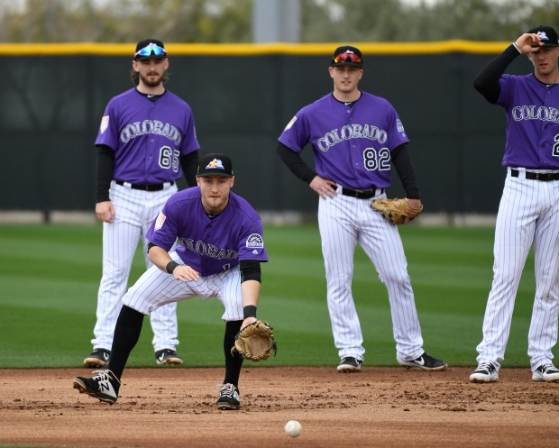 From left to right, Colorado Rockies ...