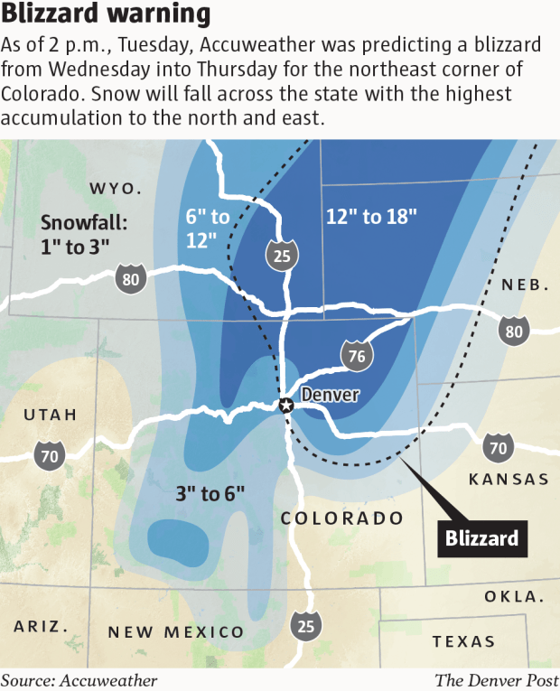 Colorado Weather: Blizzard Bears Down On Denver, Front