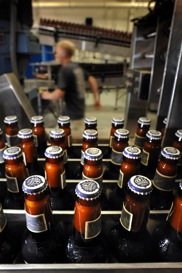 The bottling line at Odell Brewing Company in Fort Collins on Sept. 9, 2010.