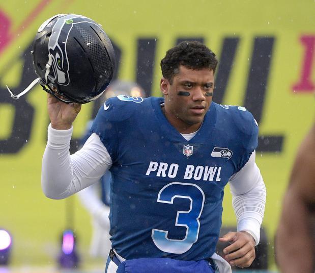NFC quarterback Russell Wilson of ...