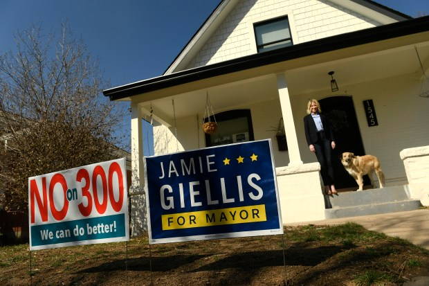 Mayoral candidate Jamie Giellis poses for ...