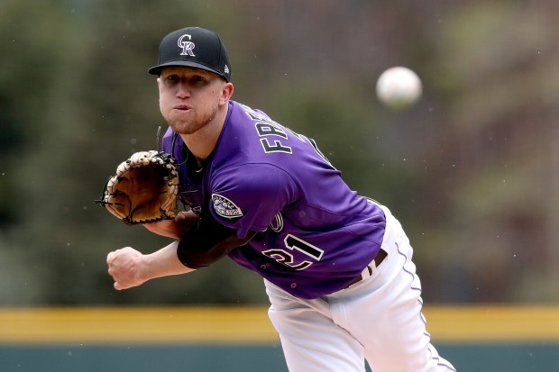 Starting pitcher Kyle Freeland #21 of ...