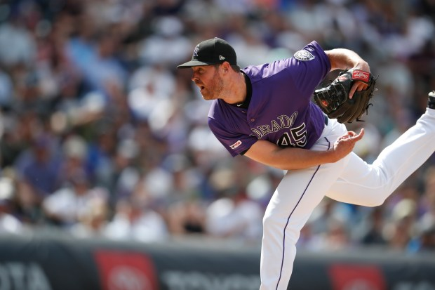 Colorado Rockies relief pitcher Scott Oberg ...