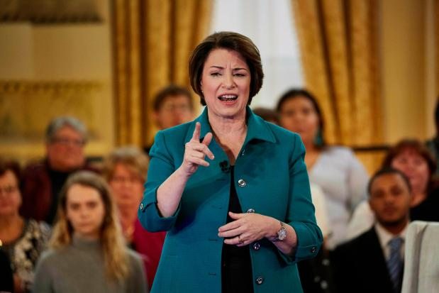 Democratic presidential candidate Sen. Amy Klobuchar, ...
