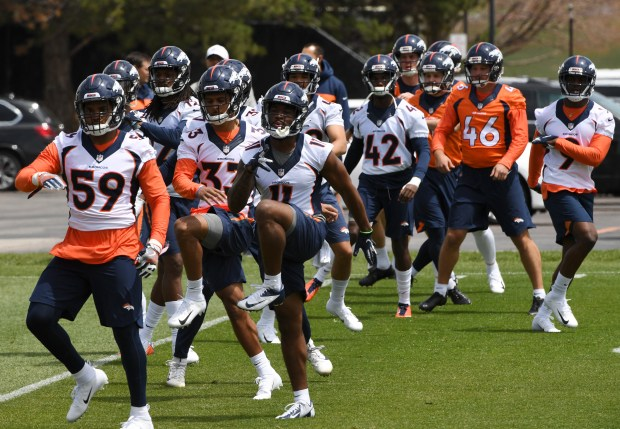 Denver Broncos Rookie practices during a ...
