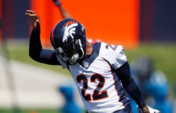Denver Broncos cornerback Kareem Jackson takes ...