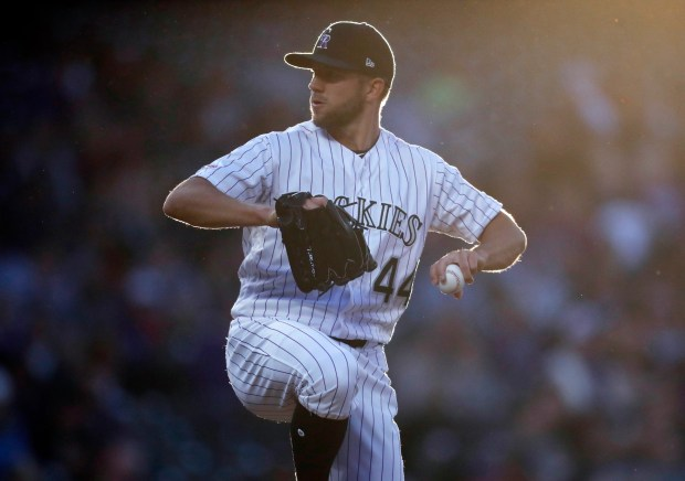 Colorado Rockies starting pitcher Tyler Anderson ...