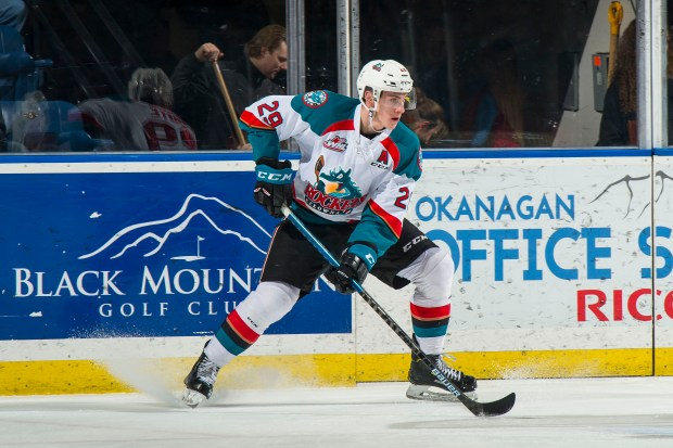 Nolan Foote #29 of the Kelowna ...