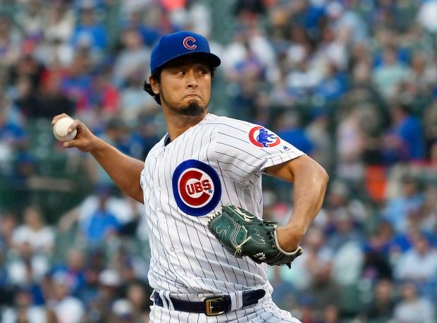 Yu Darvish #11 of the Chicago ...