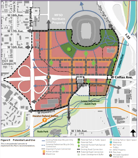 Broncos Stadium development — sprouting from its parking lots — could stretch all the way to Federal Boulevard