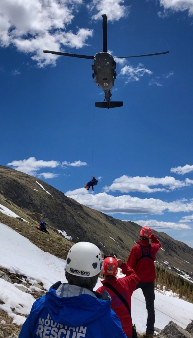 Climber rescued by Blackhawk helicopter after falling 200 feet down snowy Boulder County mountain