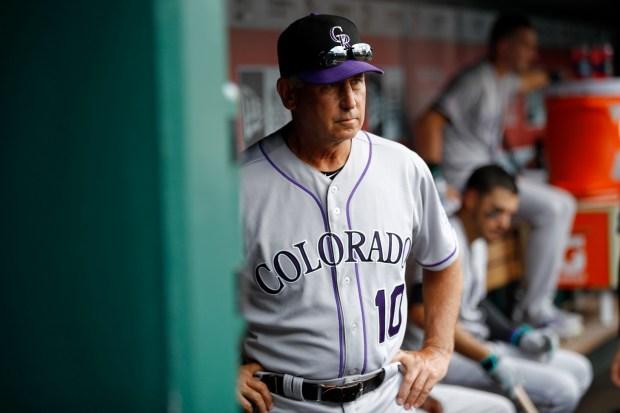 Colorado Rockies manager Bud Black walks ...