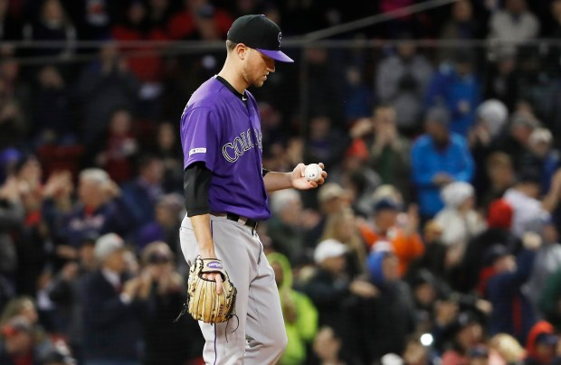 Colorado Rockies starting pitcher Kyle Freeland ...
