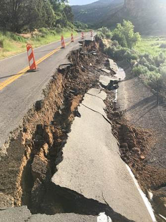 Collapse of roadway on Colorado 325 leads to shutdown north of Rifle