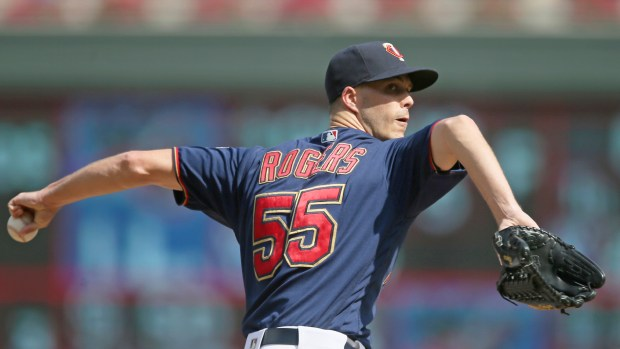 Minnesota Twins pitcher Taylor Rogers throws ...