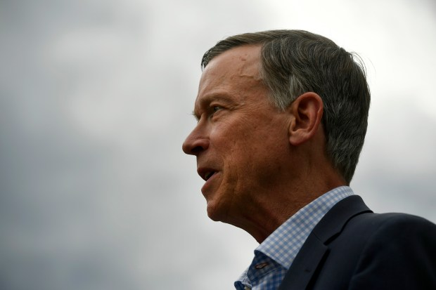 Former Colorado Governor John Hickenlooper speaks ...