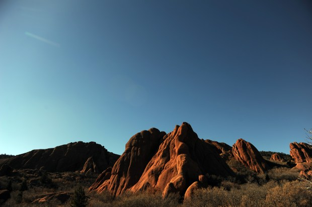 Rock formations at Roxborough State Park ...