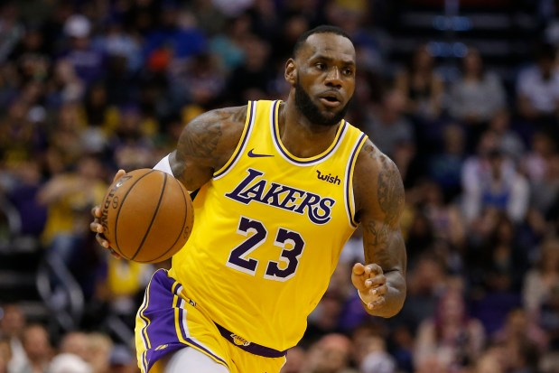 Los Angeles Lakers forward LeBron ...