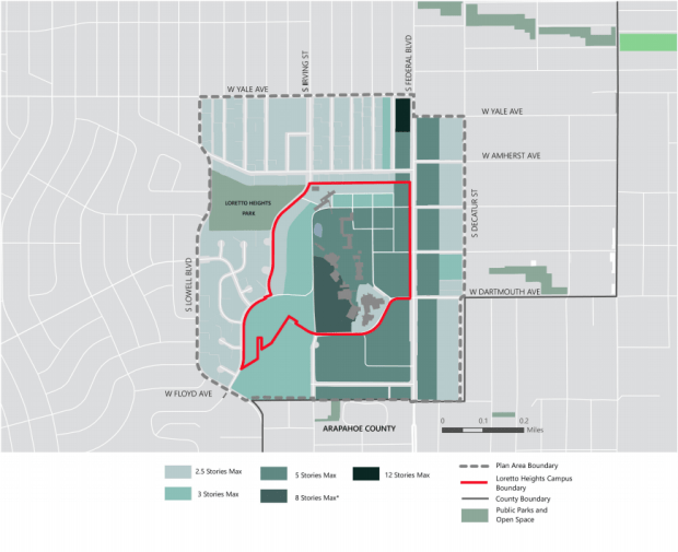 Denver City Council approves vision for Loretto Heights that could host 2,500 people