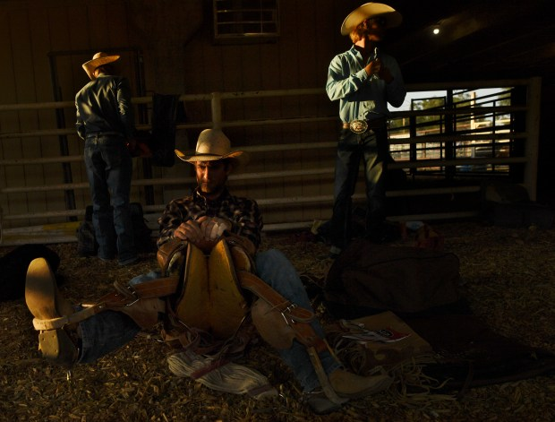 Saddle bronc rider Brady Love, of ...