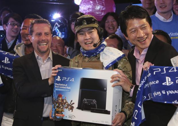 The first customer of PlayStation 4, ...