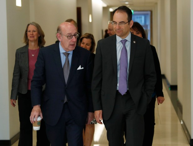 Kenneth Feinberg, left, who is leading ...