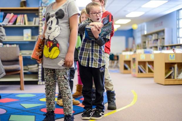 Vivian Elementary School third grader Ayden ...