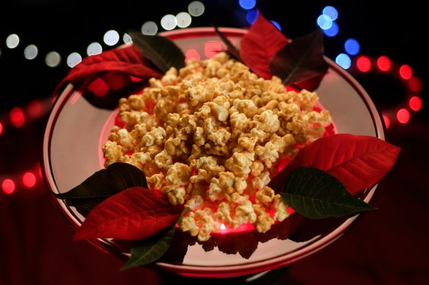 Caramel corn for the holiday season ...