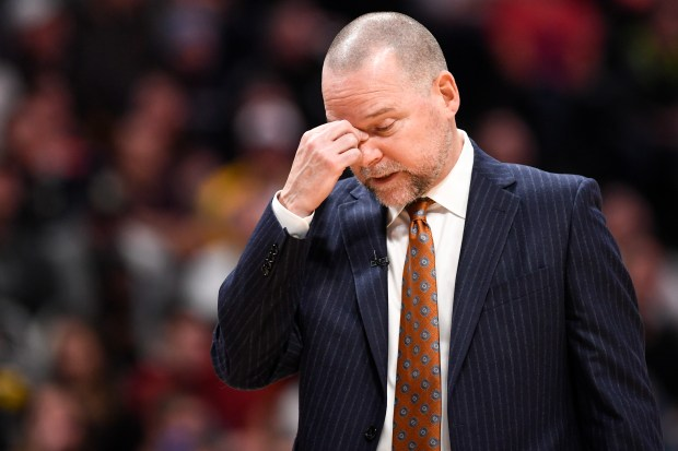 Denver Nuggets head coach Michael Malone ...