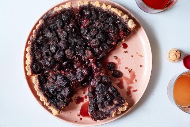 Alison Roman's boozy cherry walnut tart, ...
