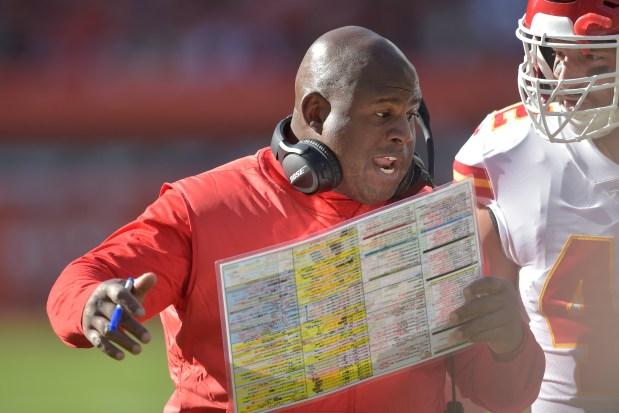 Kansas City Chiefs offensive coordinator Eric ...