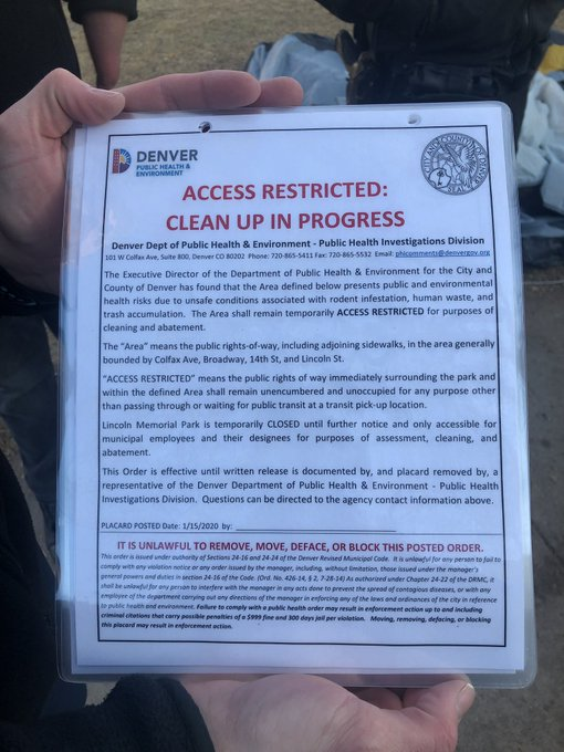 Rats close park near Colorado Capitol after spike in homeless camping, Denver says