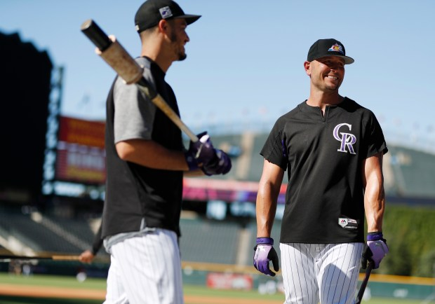 Colorado Rockies left fielder Matt Holliday, ...