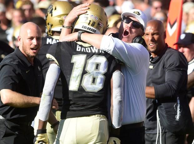 University of Colorado's Tony Brown (18) ...
