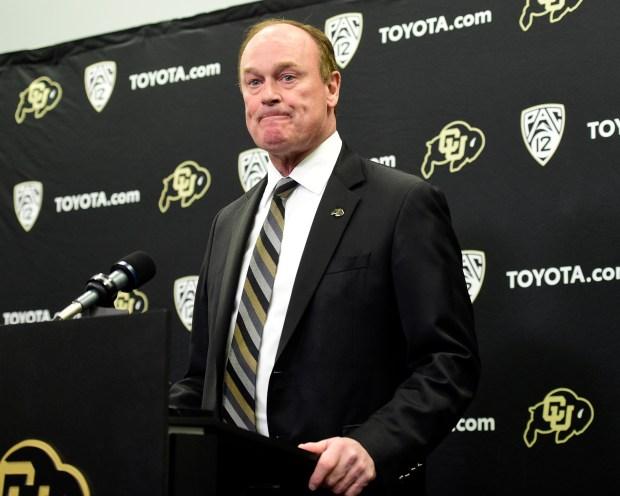 University of Colorado Athletic Director Rick ...