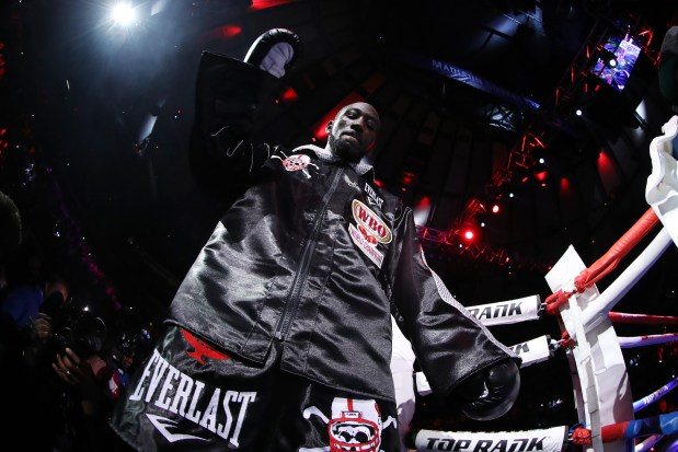 Terence Crawford enters the ring against ...