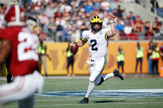 Shea Patterson #2 of the Michigan ...